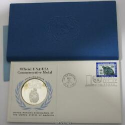 1971 United Nations Support For Refugees Silver Proof Medal Stamp Fdc Cover