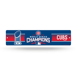 New Mlb Chicago Cubs Street Sign 2016 World Series Champions Man Cave Decor - Ws