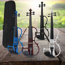 Full Size 44 Electric Basswood Violin with Earphone Storage Bag Connecting Line