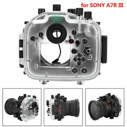 40m Diving Waterproof Camera Housing Case Lens Protector Cover for SONY A7R III