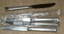 Lenox Eternal Frosted Stainless Flatware 4 Dinner Table Knives New In Sleeves