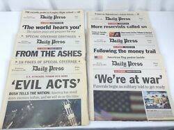 Daily Press Newspaper Lot Of 8 From 9/11 September 11 2001 Twin Tower Attack