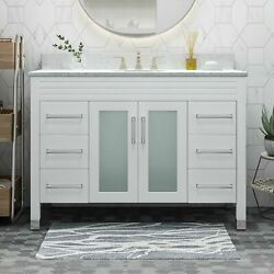 Holdame Contemporary 48 Wood Bathroom Vanity Counter Top Not Included