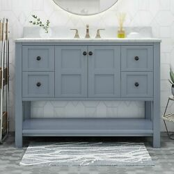 Jamison Contemporary 48 Wood Bathroom Vanity Counter Top Not Included