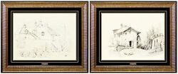 Louis Comfort Original Drawing Hand Signed Lct Gold Favrile Glass Art