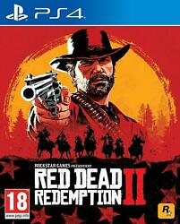 Red Dead Redemption 2-standard Edition Ps4 Playstation 4 Sony 2018 New Sealed