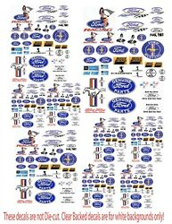 Ford Small Decals For Diecast And Model Displays Or Dioramas Ford1
