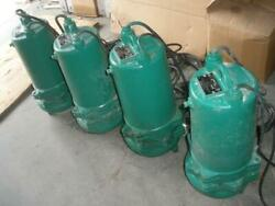 Lot Of 4 Myers Mwh50d-43 Sewage Pump 0.5 Hp 460v 3 Ph Used