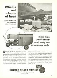 1950 Herman Nelson Ad Portable Heating Ground Units For Airplanes Hangars