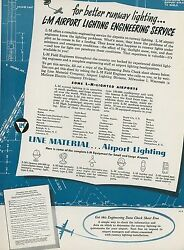 1951 Crouse Hinds Aviation Ad Airport Runway Lighting Engineering Service Lights