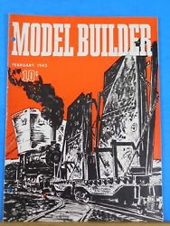 Model Builder 1943 February Lionel Magazine Wholesale Grocery Sand And Gravel Yard