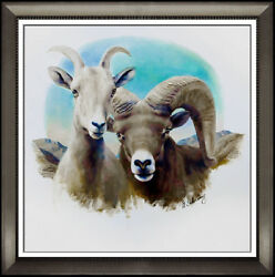 Adolf Sehring Original Oil Painting On Canvas Hand Signed Animal Portrait Art