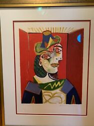 Buste De Femme Picasso Signed By Daughter