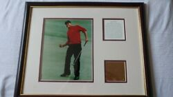 Tiger Woods Grand Slam Champion Framed Photo W/ Plaques