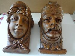 Figural Pair Wall Sconces