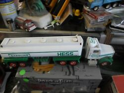 Lot Of 2 Vintage Hess Trucks - Toy Tanker And Toy Fire Truck