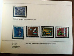 Rare Germany 1980 Stamps Mnh On Post And Telecomm Mnh In Book High Cat Value Ver