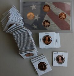 1968 Through 2020 Proof Lincoln One Cent 56 Coin Penny Lot 1c Collection