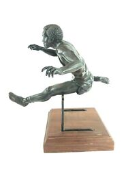Antique 1984 Limited Edition 15/36 Bronze Olympian Hurdler Statue 13 Tall
