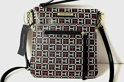 TOMMY HILFIGER Crossbody Messenger Small Bag Blue Red Faux Leather NWT $75 $39.00
