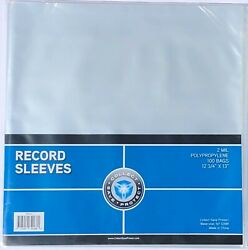2000 New Csp 33 1/3 Rpm Record Album Clear Polypropylene Sleeves