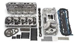 Edelbrock 2095 Chevy 454 BBC TopEnd Kit Aluminum heads Cam Intake 540Hp9.6:1