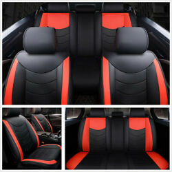 Full Surrounded PU Leather Front+Rear Seat Cover Cushion Car-Styling All Seasons