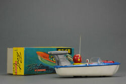 Antique Tin Toy Mint 1960's Ms 877 Chinese Plastic + Tin Toy Boat China Me