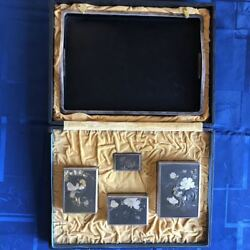 Silver Sigarette Case Stunning Cased Sterling Silver Set Chinese