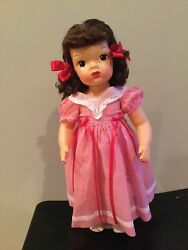 Doll Terri Lee Wearing Red And White Square Dance Dress Tagged 1950s
