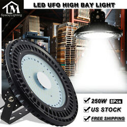 8X 250W UFO LED High Bay Light Factory Warehouse Shed Lighting Industrial lamp
