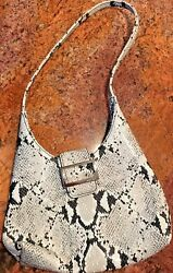Nine West Snakeskin Small Satchel Purse Black and Gray $25.00
