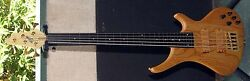 Bossa 5 String Fretless Bass Guitar Vintage From 90's New Great Old Factory