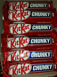 Nestle Kit Kat Chunky Chocolate Bars one box of 48 bars  50 grams each