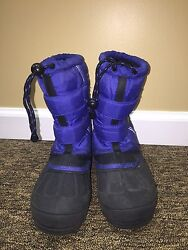 Explorers Winter Boots Boys Blue/black Size Us 4 Youth Eur 36.5 Pre-owned