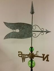 Beautiful Copper Antique Finish Weathervane,complete Setup / Mount,sold As Shown