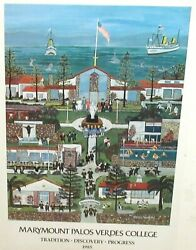 Rita Schroeder Malaga Cove Palos Verdes Hand Signed In Ink 1985 Poster