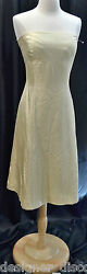 Vera Wang Bridesmaid Designer NEW strapless GOLD cocktail evening Dress SIZE 10
