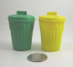 Topps Chewing Gum Garbage Can Containers Yellow Green Vintage