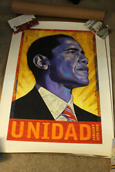 Barack Obama Unidad Print Signed And 65/500 Rafael Lopez Very Low Print Number