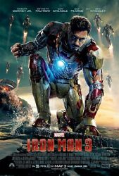 Iron Man 3 Movie Poster  11 X 17 Inches C Robert Downey Jr Poster