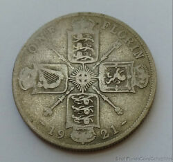 1921 Great Britain .500 Silver 1 One Florin