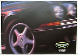 2000 Bentley Brief History Past And Present Models Sales Brochure In 3 Languages