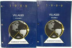 1999 Ford Motor Company Mercury Villager Service Shop Repair Manual 2 Vol Set