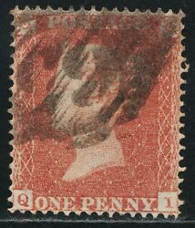 1850 Penny Red Sg16b Spec Ce2 Archer Plate 101 Qi P16 Sc Fine Used