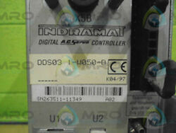 INDRAMAT DDS 3.1-W050-D SERVO CONTROLLER NO COVER *USED*