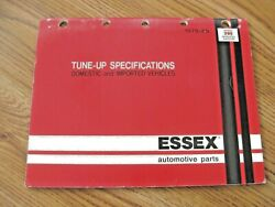 1969-and03979 Essex Domestic Cars-trucks And Imports - Tune-up Specification Chart