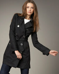 Auth. Brit Balarmoral Trench Coat Jacket Sizes S 4 38 Or 8 42 995