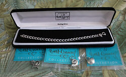 Wdcc Sterling Silver Bracelet - Nib - Seashell Poison Apple And Spindle Charms