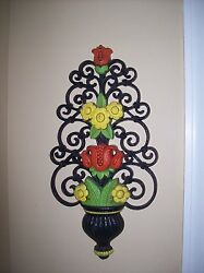Retired Vintage Homco Resin Decorative Wall Piece Beautiful Colors
